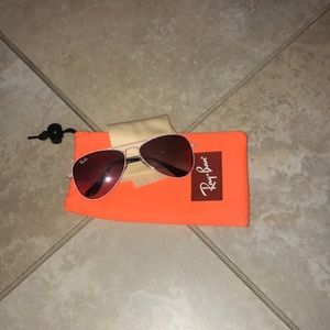 kids authentic Ray-Ban aviators (with case)